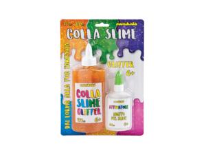 COLLA SLIME GLITTER 177ML + ATTIVATORE 60ML C.BOOK