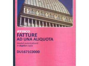BL.FATTURE A4 2C. 1 ALIQUOTA
